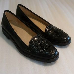 Talbots black loafers size 9AA